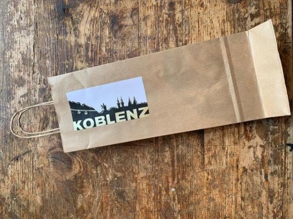 1er Tragetasche natur mit Koblenz Etikett