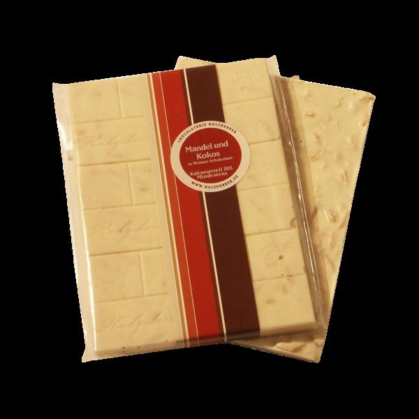 Holzderber Schokolade weisse Mandel-Kokos