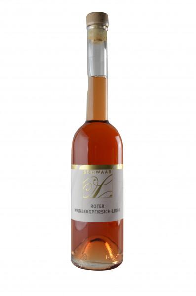 Roter Weinbergspfirsich-Likör 0,5 L
