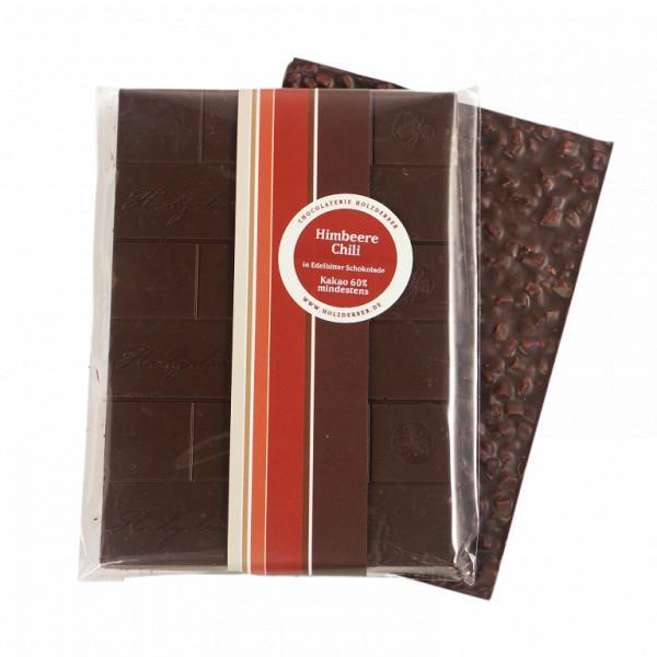 Himbeer in Zartbitter Schokolade, Holzderber